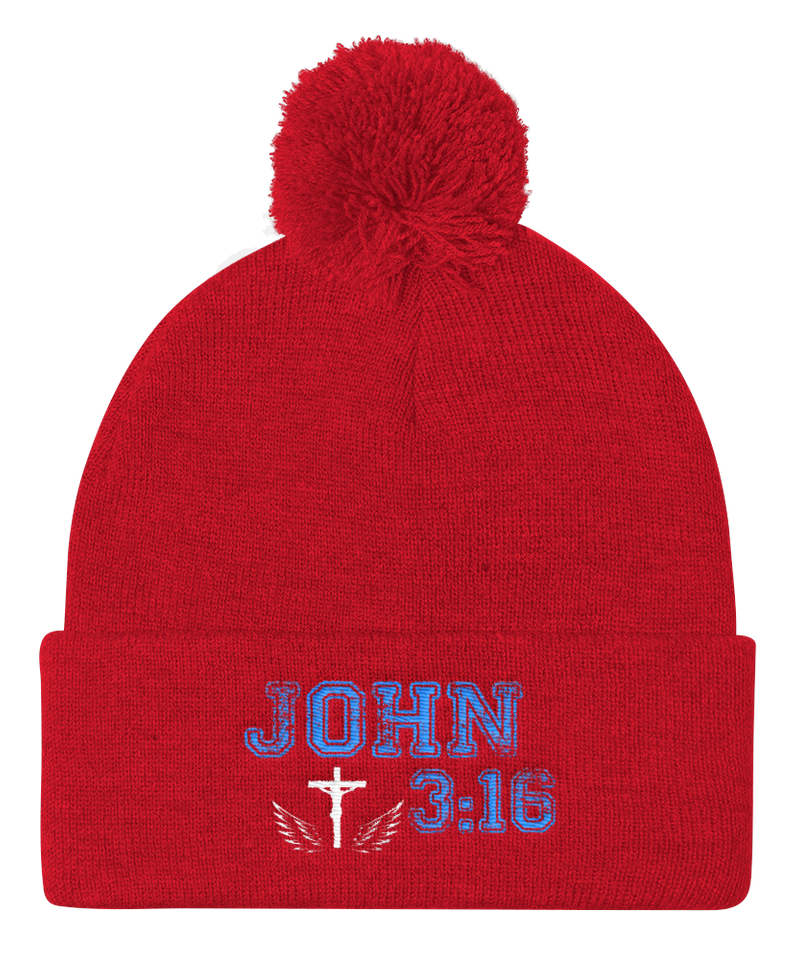 John 3:16 Knit Cap (Red)