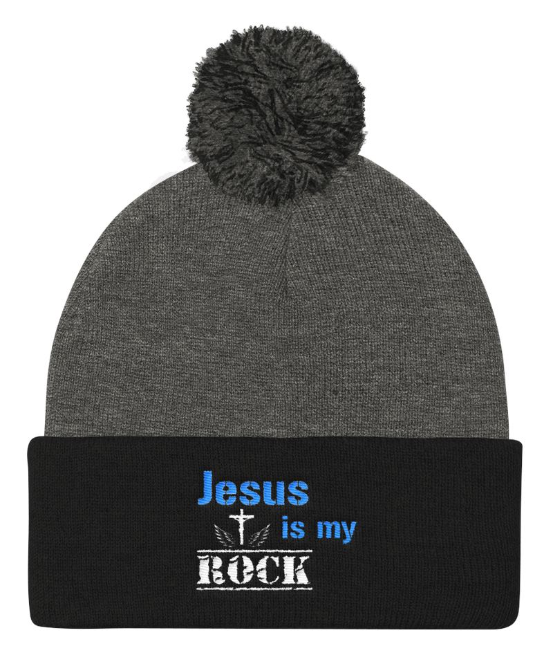 Jesus Is My Rock Cap (Dark Grey / Black)