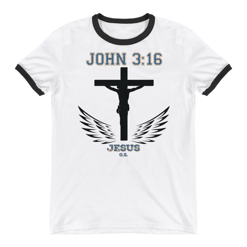 John 3:16 (Black Cross) - in 4 colors