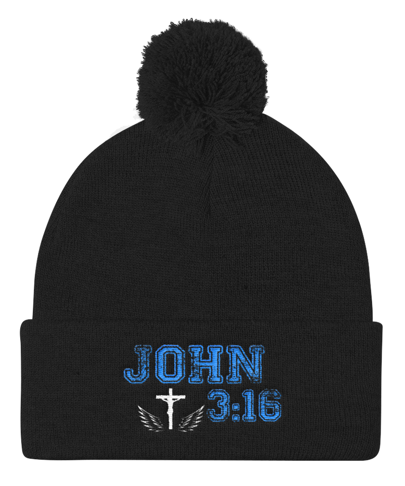 John 3:16 Knit Cap (Black)