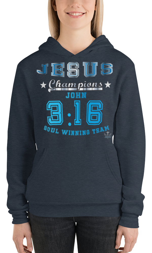 John 3:16 (FLEECE HOODIE)- in 5 colors