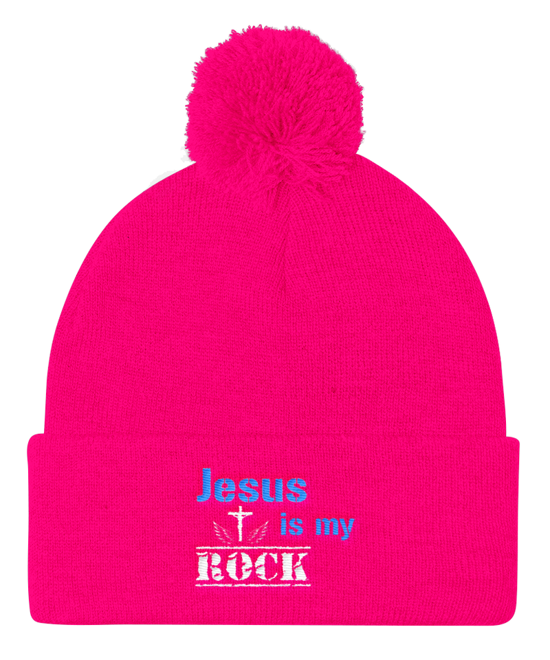 Jesus Is My Rock Cap (Neon Pink)