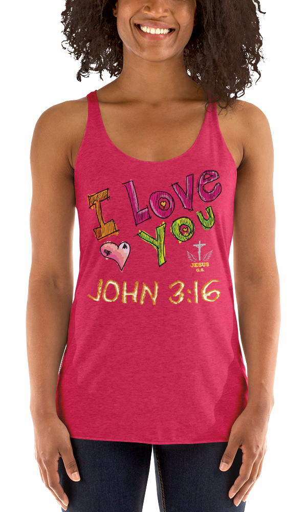 I Love You (RACERBACK TANK)- in 10 colors