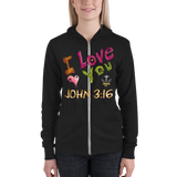 I Love You (ZIP-UP HOODIE) - in 3 colors