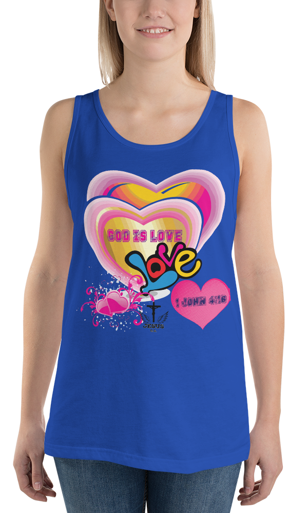 God Is Love (TANK) - in 8 colors