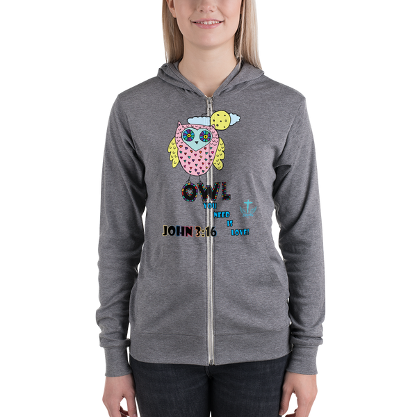 Owl You Need (ZIP-UP HOODIE) - 1 color