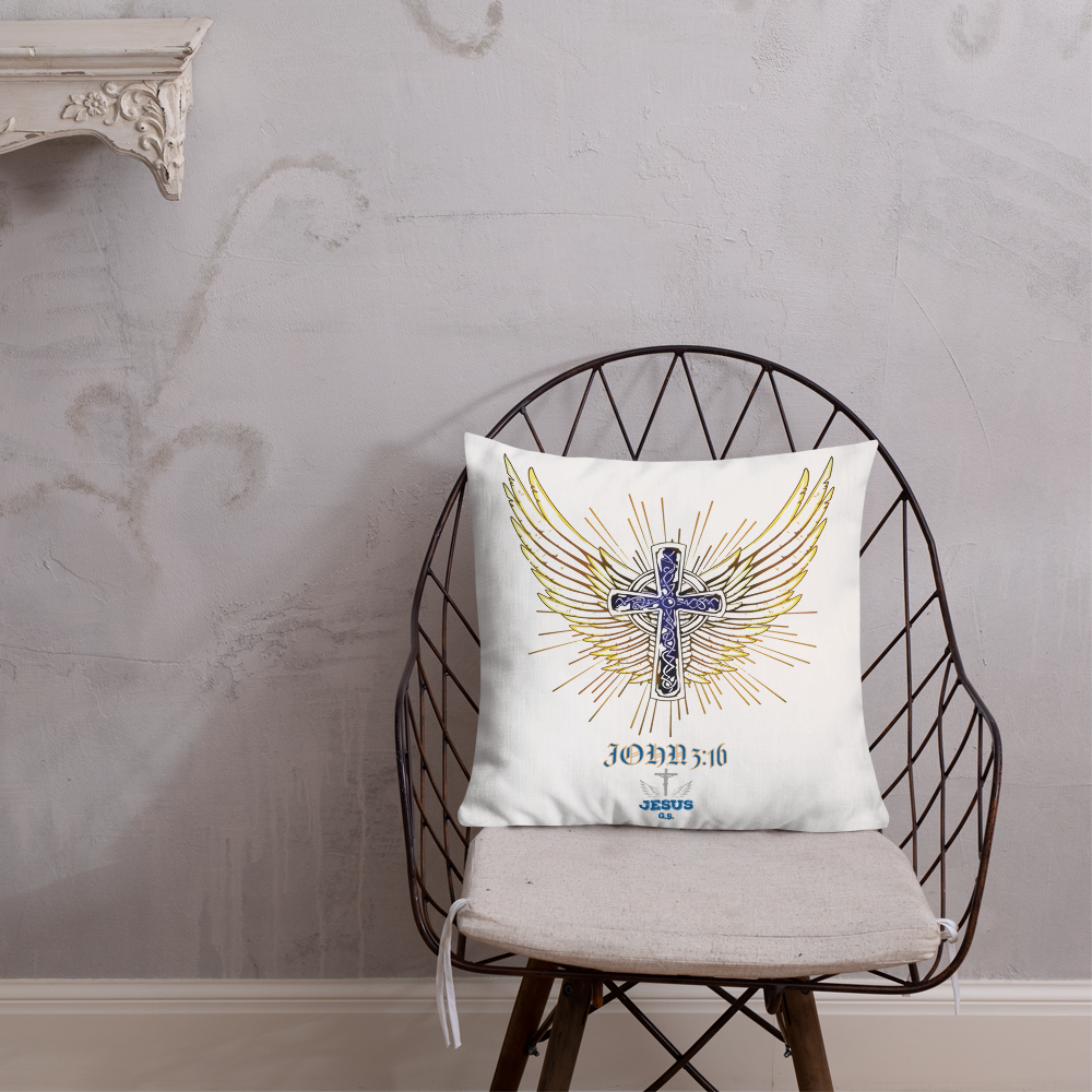 Angel Wings Pillow - 18x18