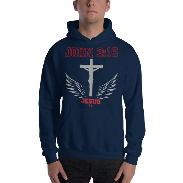 John 3:16 (HOODED SWEATSHIRT) - in 5 colors