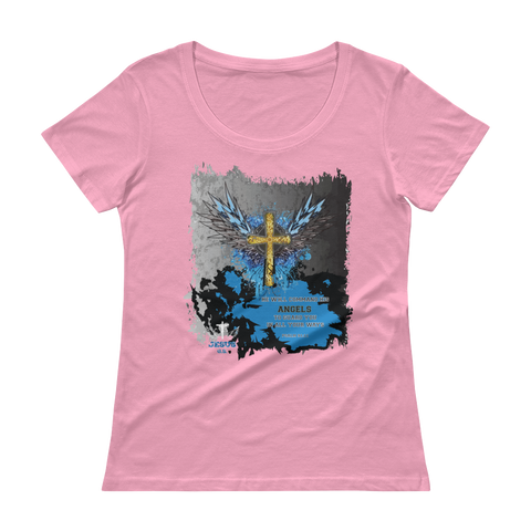 Angels Guard (SCOOP NECK) -  in 5 colors - Jesus Gift Store