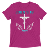 John 3:16 (TRIBLEND) - 10 colors - Jesus Gift Store