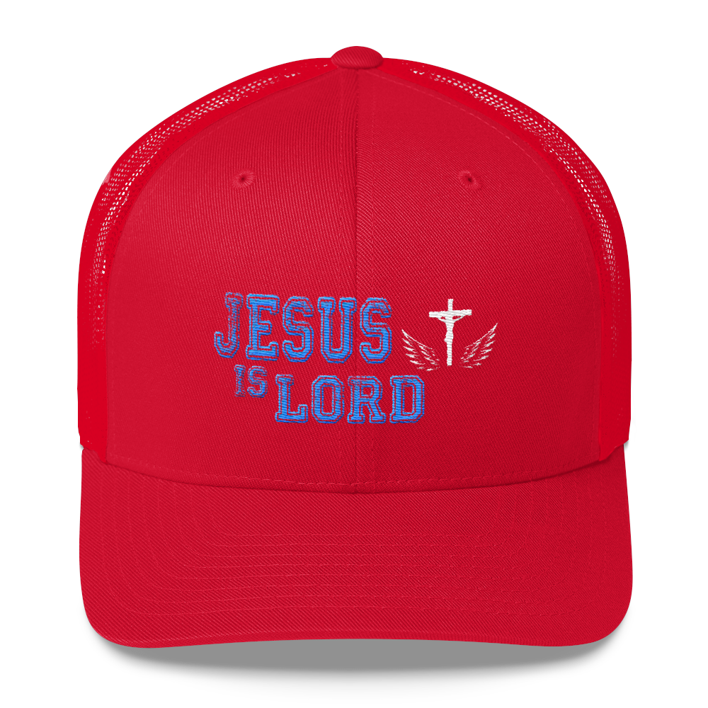 Jesus Is Lord Trucker Cap (Red)