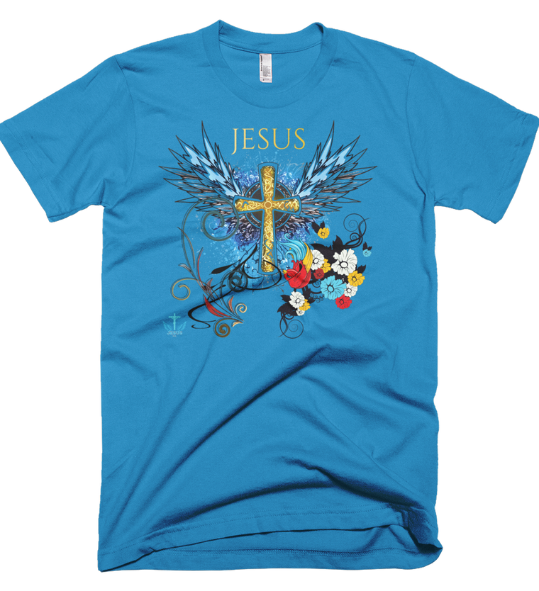 Jesus Cross (Made in the U.S.A.) - in 10 colors