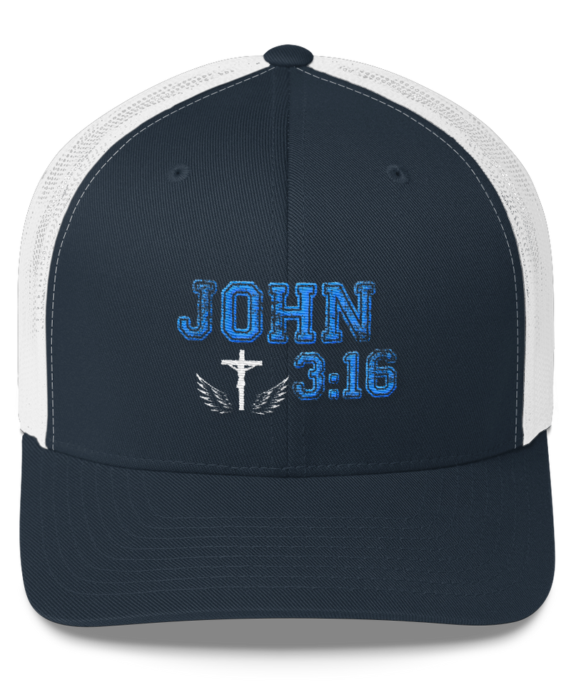 John 3:16 Trucker Cap (Navy / White)