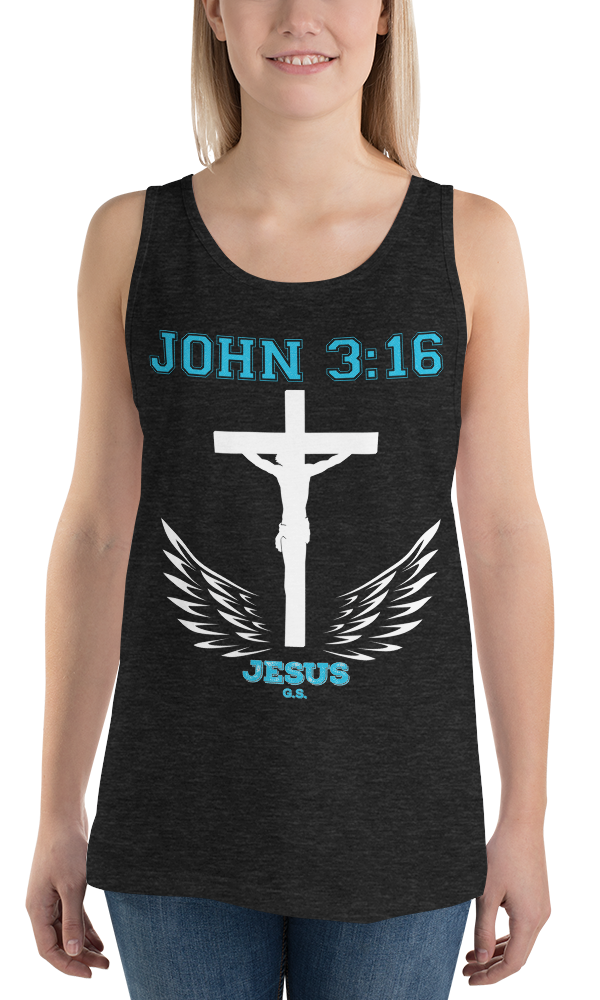 John 3:16 (TANK) - in 7 colors