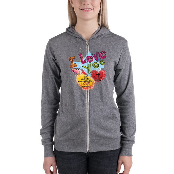 Love You (ZIP-UP HOODIE) - in 3 colors