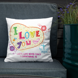 God's Love Pillow - 18x18