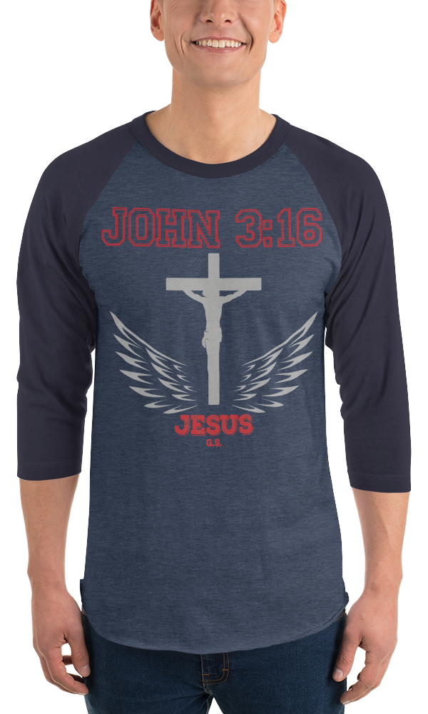 John 3:16 - (BASEBALL) in 8 colors
