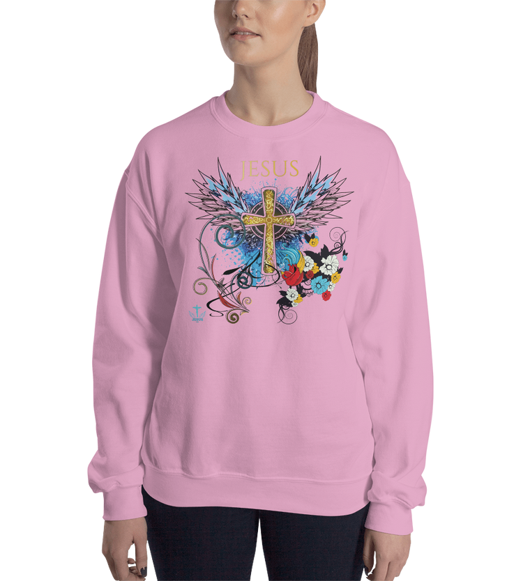 Jesus Cross (CREWNECK) - in 7 colors