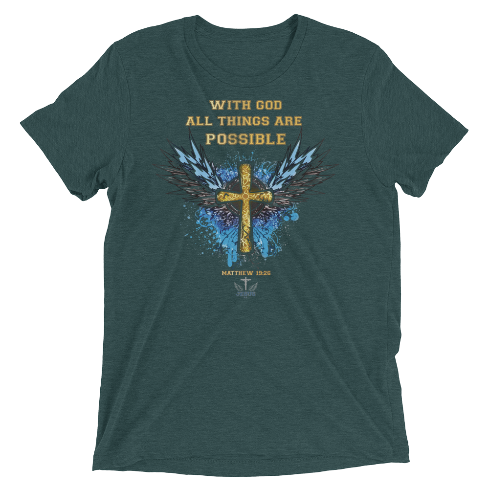 All Things (TRIBLEND) - in 12 colors - Jesus Gift Store