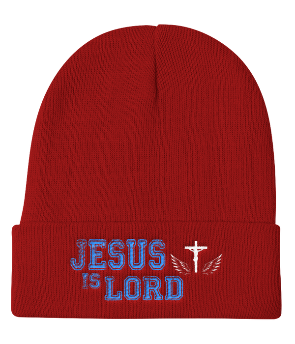 Jesus Is Lord Knit Beanie (Red)
