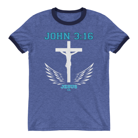 John 3:16 (White Cross) - in 3 colors