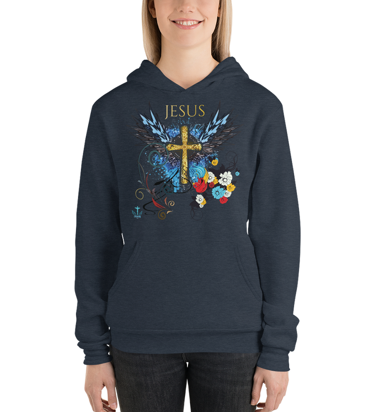 Jesus Cross (FLEECE HOODIE) - in 5 colors