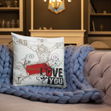 Jesus Loves You Pillow - 18x18