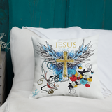 Jesus Cross Pillow 18x18