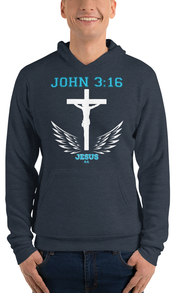 John 3:16 (FLEECE HOODIE) - in 4 colors