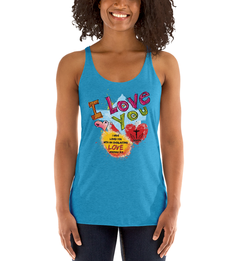Love You (RACERBACK TANK) - in 10 colors