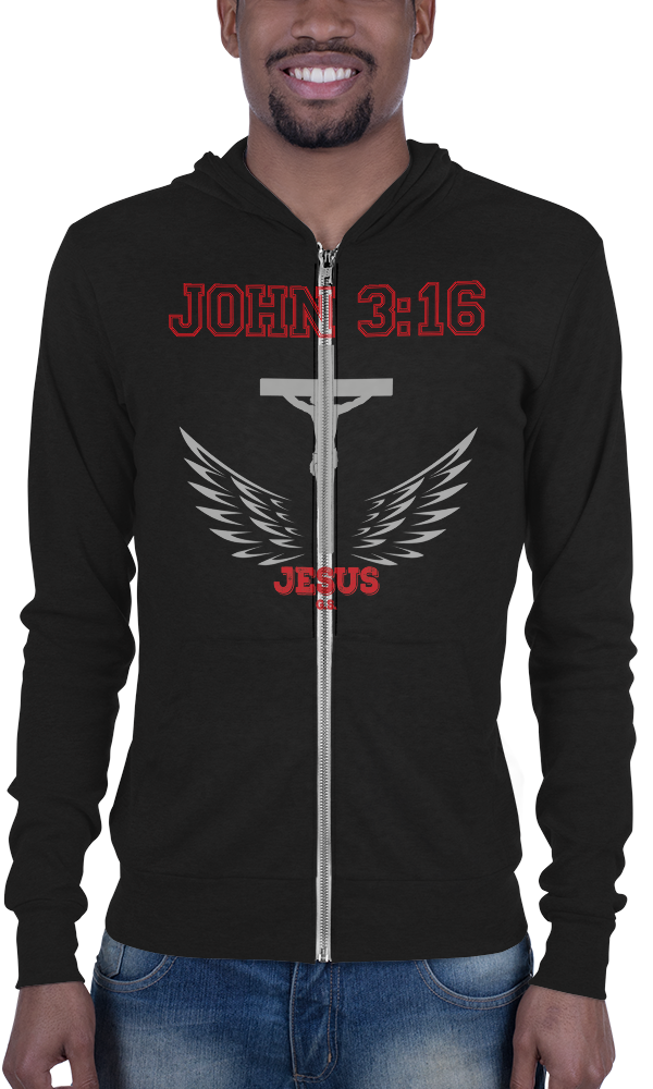 John 3:16 (ZIP-UP HOODIE) - in 3 colors