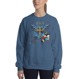 Jesus Cross (CREWNECK) - in 6 colors