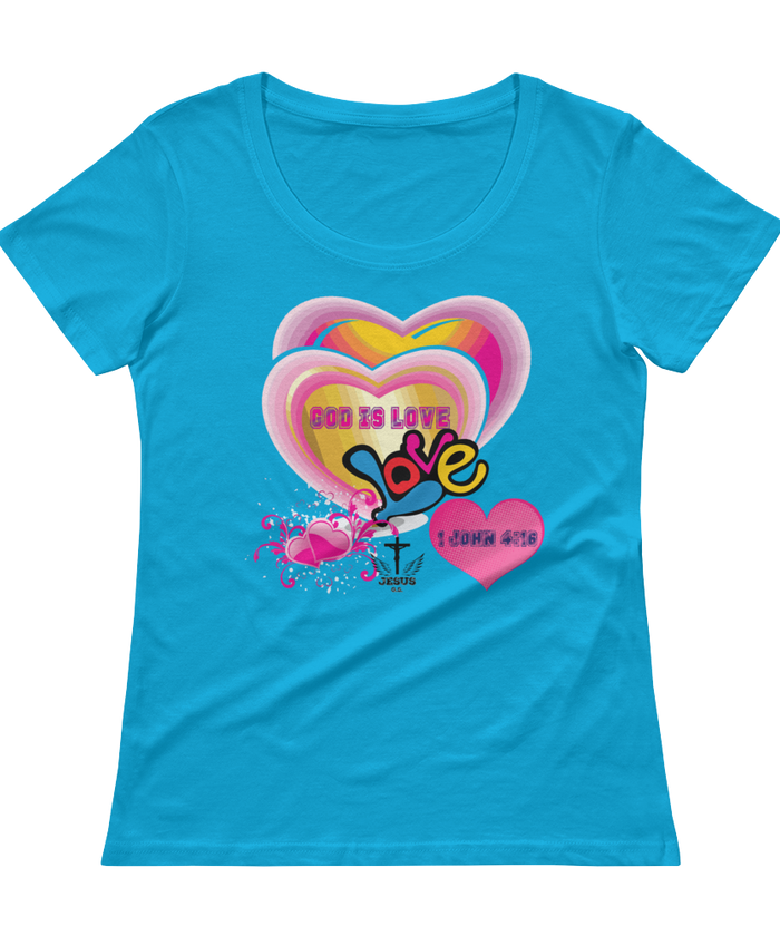 God Is Love (SCOOP NECK) - in 5 colors - Jesus Gift Store