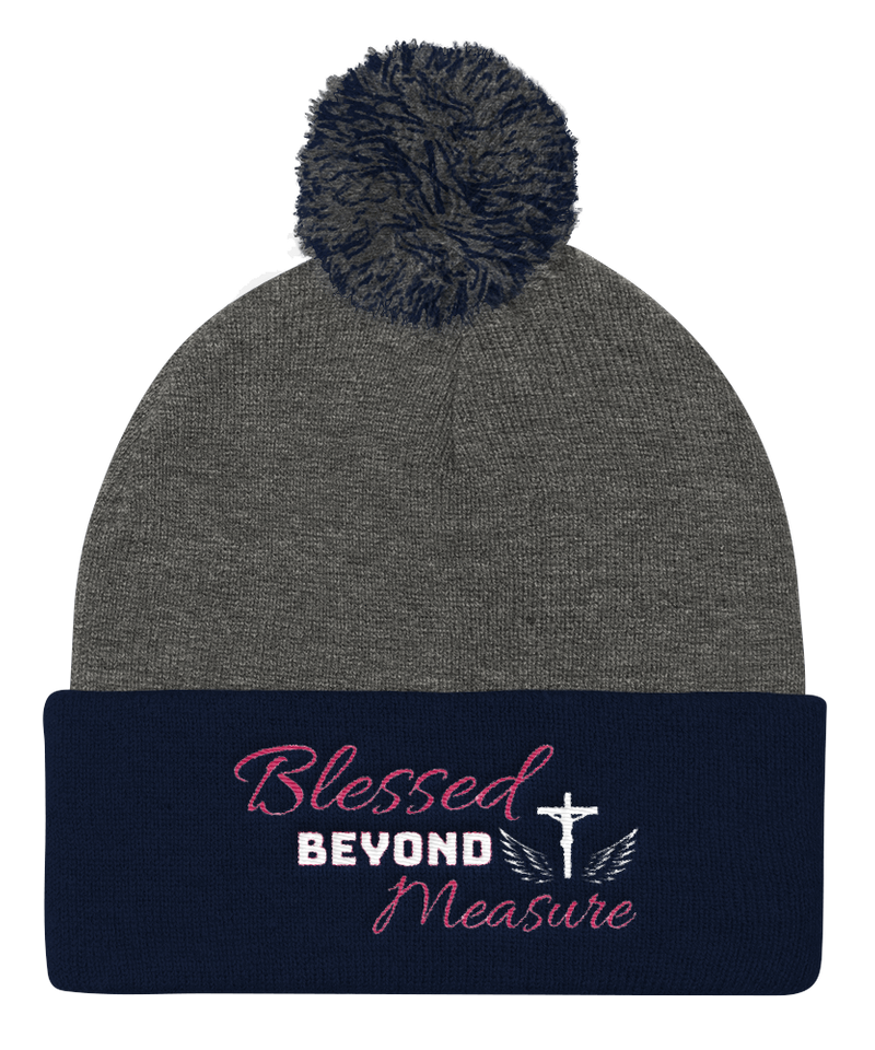 Blessed Knit Cap (Grey / Navy)