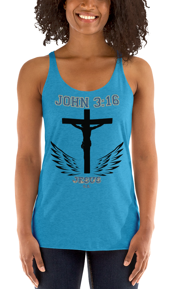 John 3:16 (RACKERBACK TANK) - in 8 colors