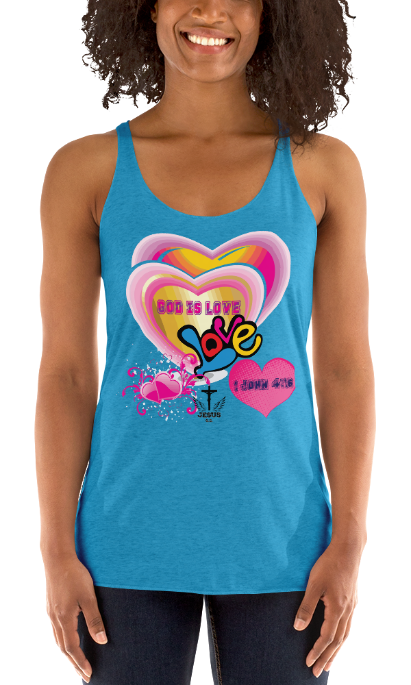God Is Love (RACERBACK TANK) - in 8 colors