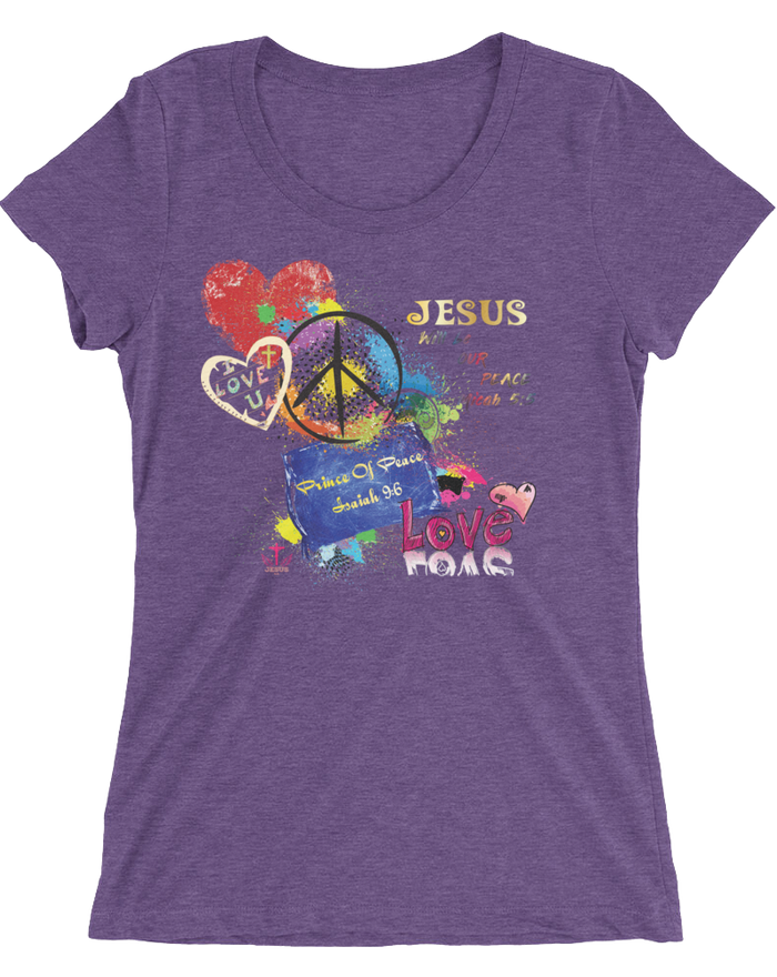 Peace (WOMEN'S FITTED ) - in 12 colors