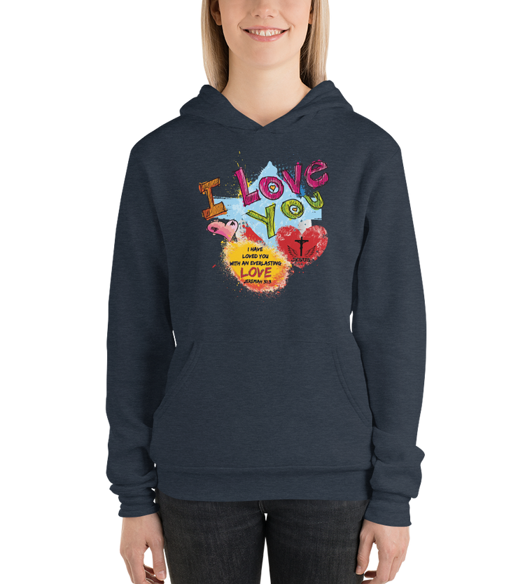 Love You (FLEECE HOODIE) - in 5 colors