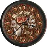 Rusted Nut House Clock - Squirrels and More