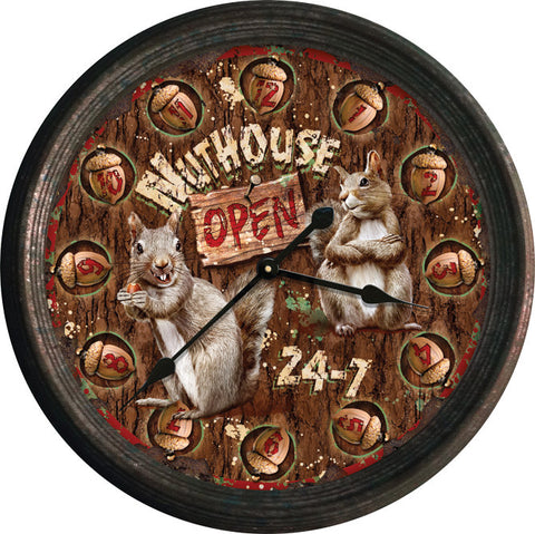 Rustic Nut House Clock