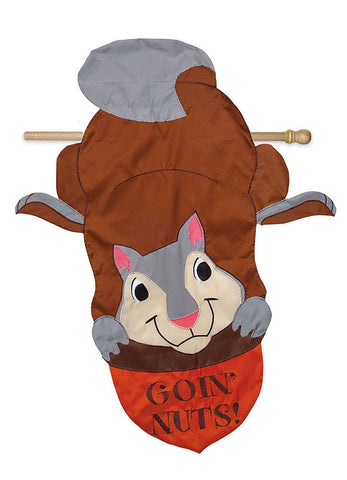 """Goin' Nuts"" Squirrel Flag"