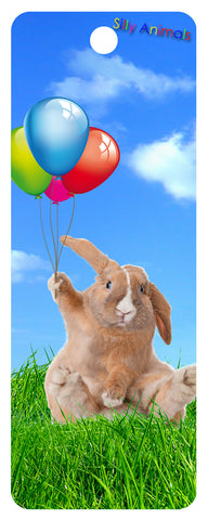 Happy Rabbit 3D Bookmark