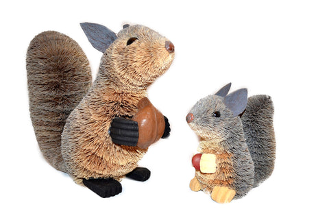 Brushkin Squirrel Statues