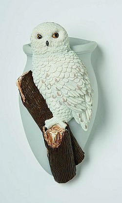 Snowy Owl Wall Vase - Squirrels and More - 1