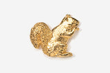 Squirrel 24K Gold Plated Pin - Squirrels and More