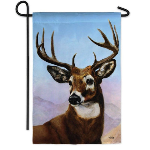 Whitetail Deer Garden Flag