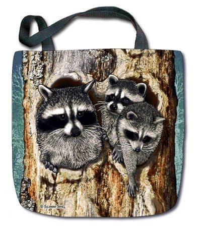 Raccoon Tapestry Tote - Squirrels and More