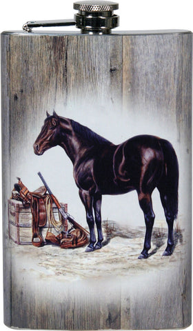 Horse with Gun and Saddle Flask