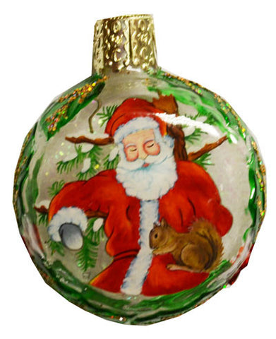 Old World Christmas Santa and Squirrel Ornament