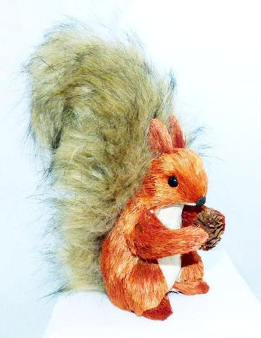 Faux Fur Red Squirrel Decor